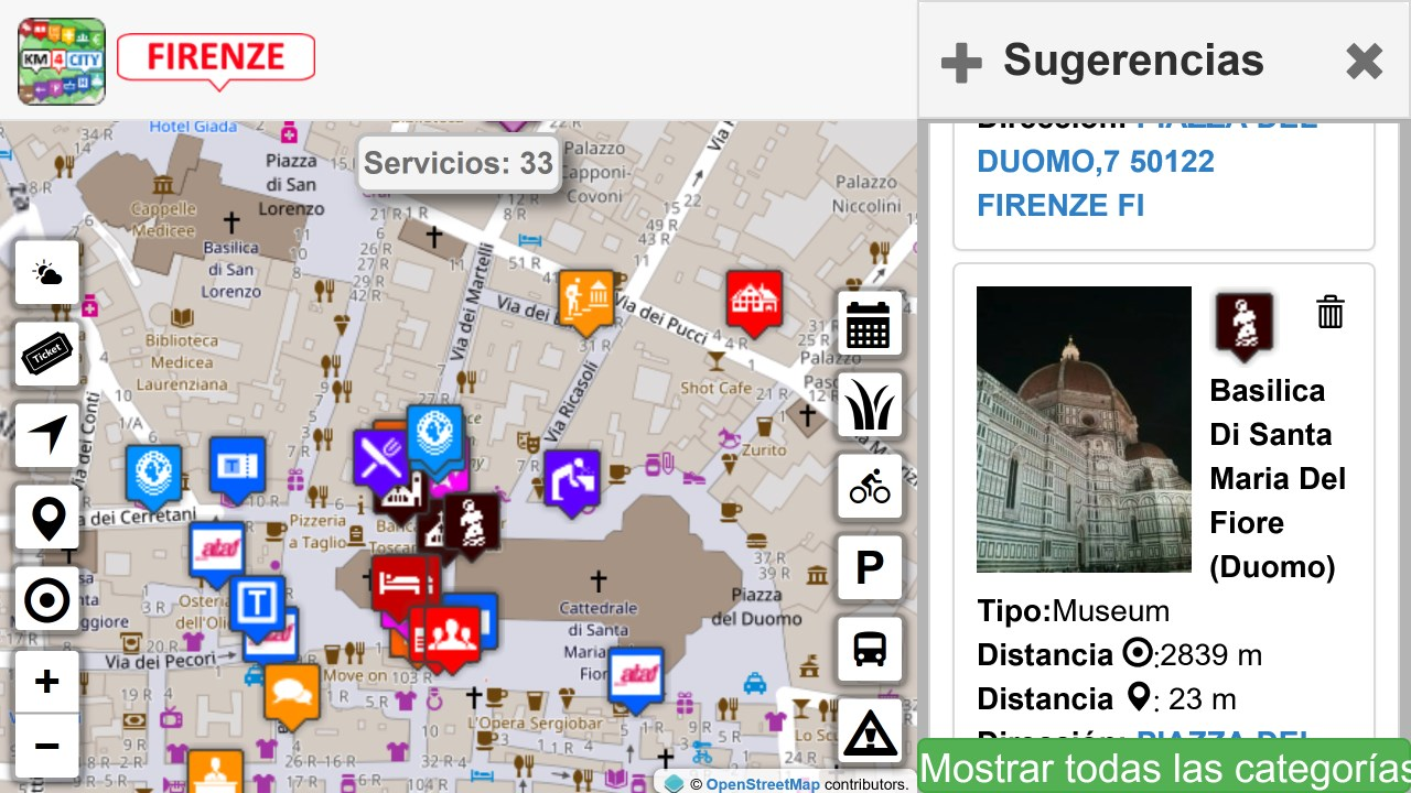 Screenshot 13 de Firenze dove, cosa... Km4city para windows