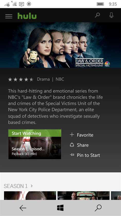 Hulu Plus for Windows 10 free download on 10 App Store
