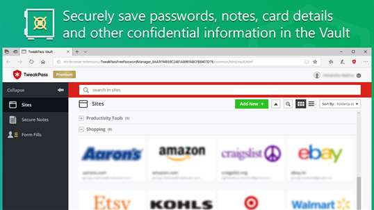 TweakPass: Free Password Manager screenshot 3
