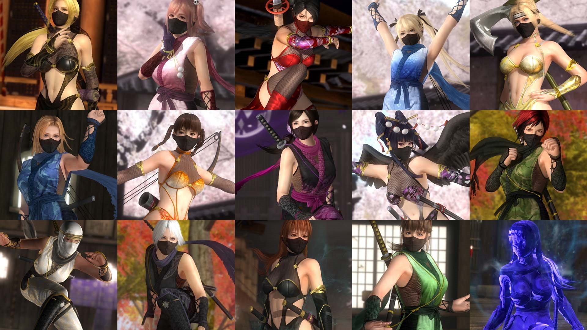 Limited Time Only! DOA5LR Ninja Clan Full Set + 30 Characters