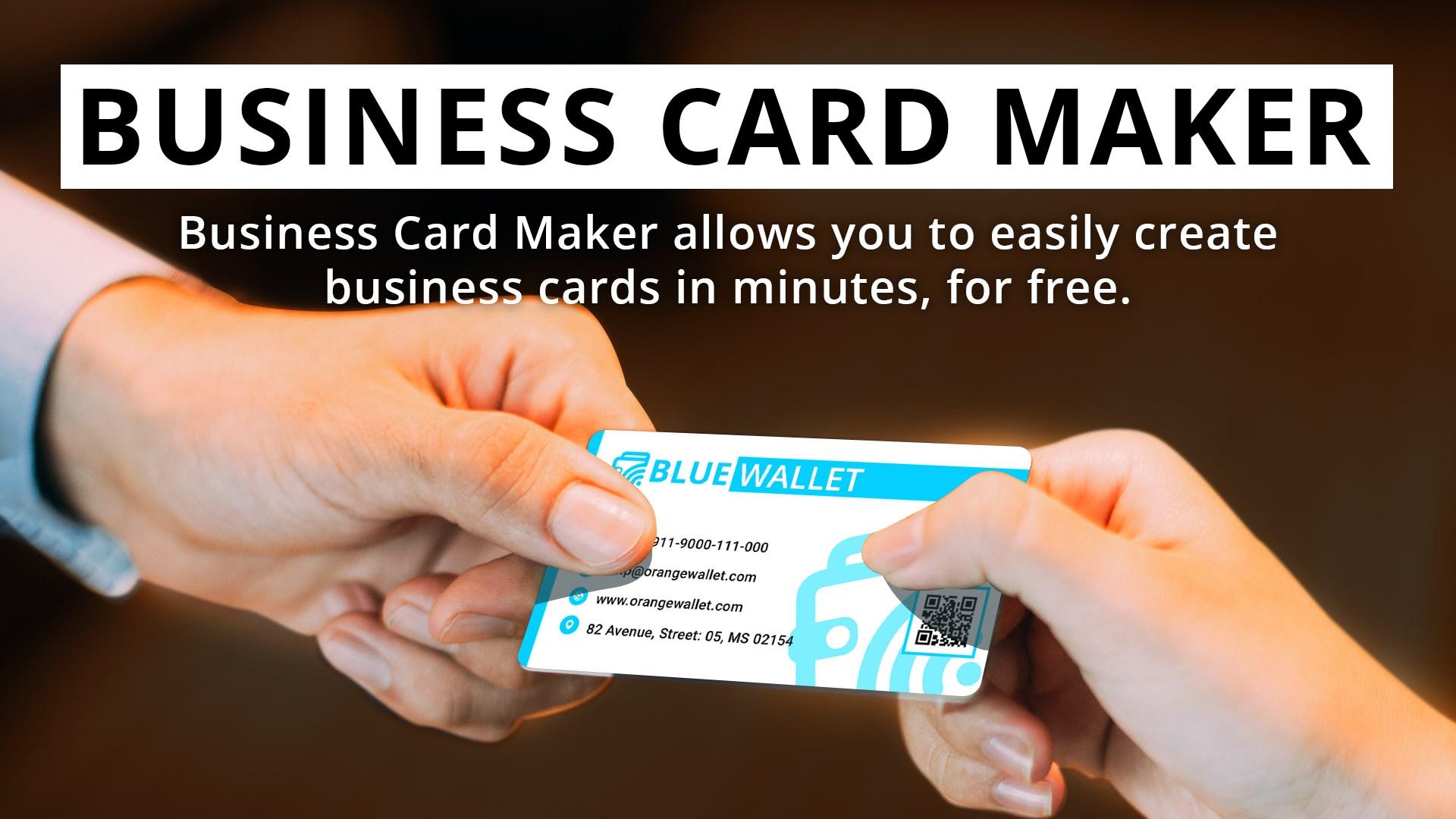Business Card Maker And Designer Microsoft Store Ar Sa