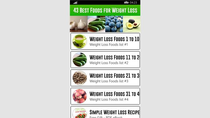 Get 43 Best Foods for Weight Loss - Microsoft Store