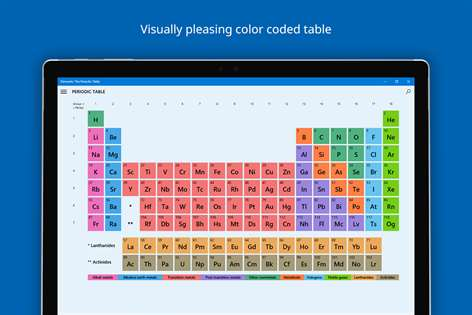 Get elements the periodic table microsoft store screenshot urtaz Images