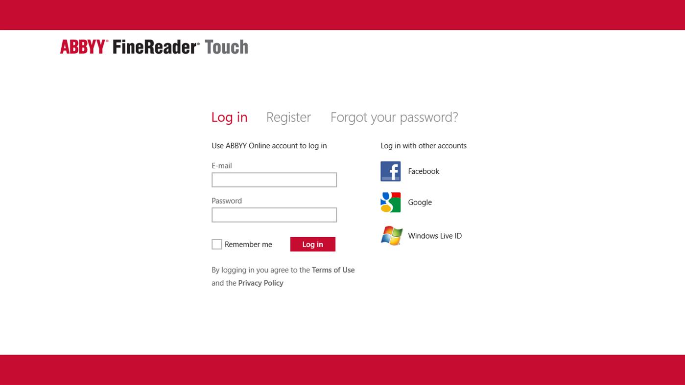 FineReader Touch full screenshot