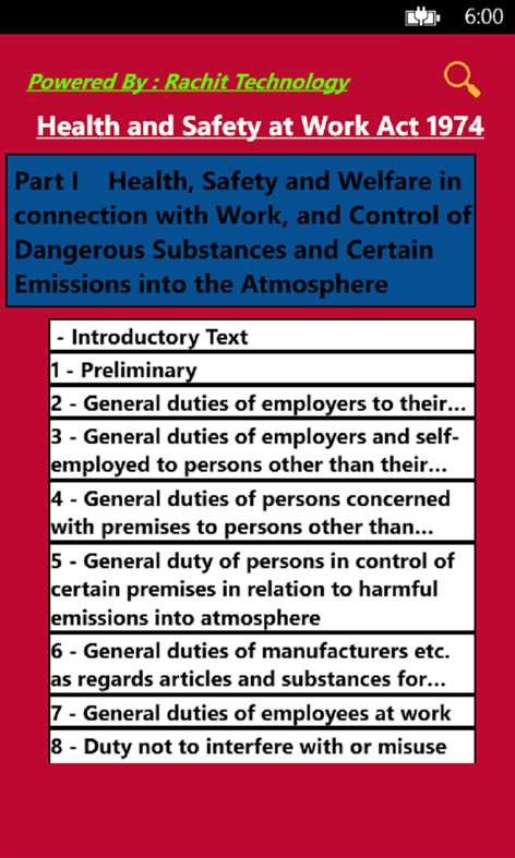 health and saftey at work act The safety & health at work act (shaw act) 2005 purpose: to make provisions for: securing the health, safety and welfare of persons at work protecting other persons.