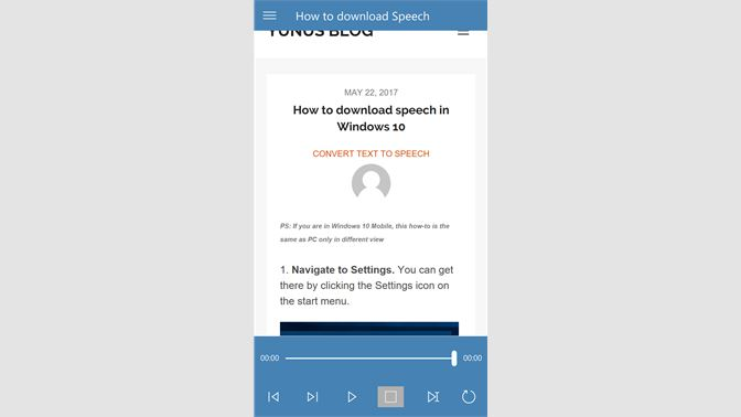 Get Convert Text to Speech - Microsoft Store