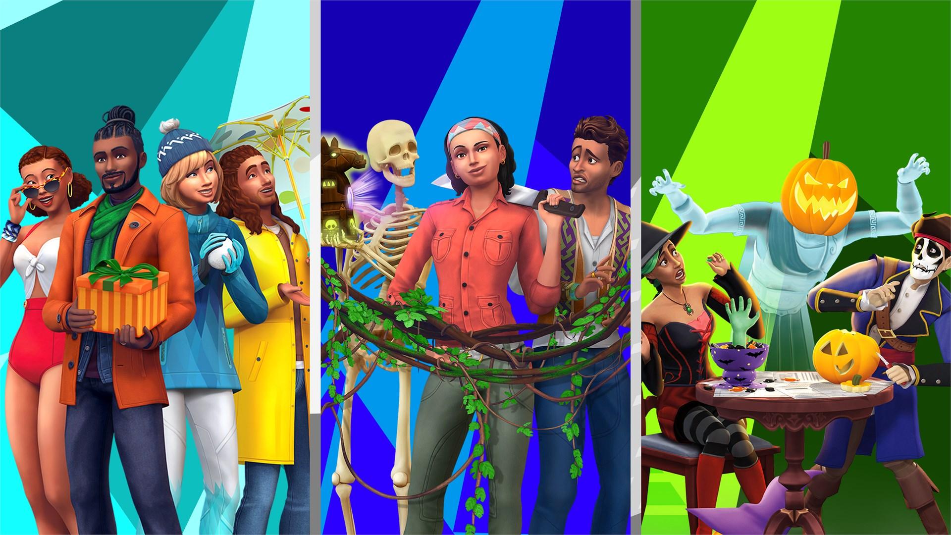 The Sims™ 4 Коллекция — Времена года, Приключения в джунглях, Жуткие вещи — Каталог