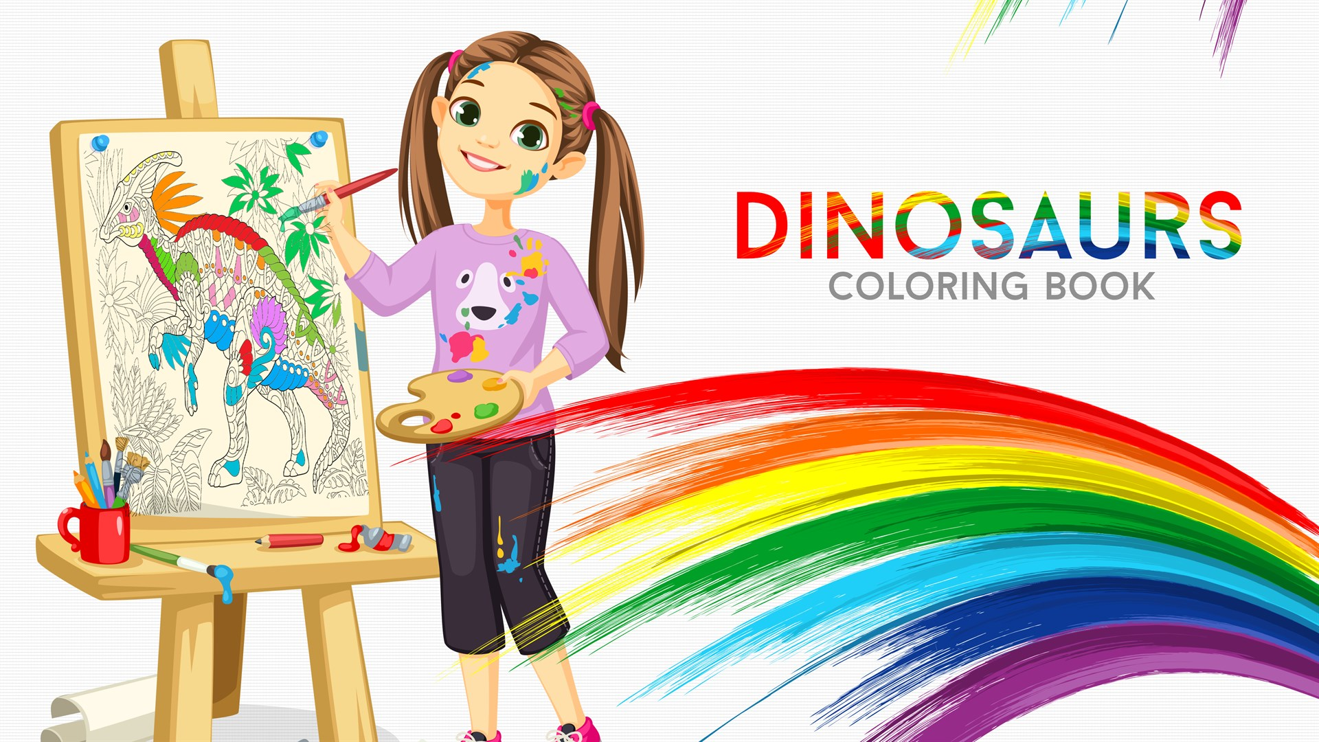Get Dinosaurs Coloring Book For Adults And Kids