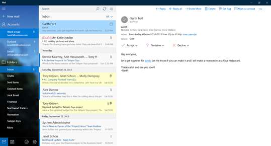 Mail and Calendar screenshot 3