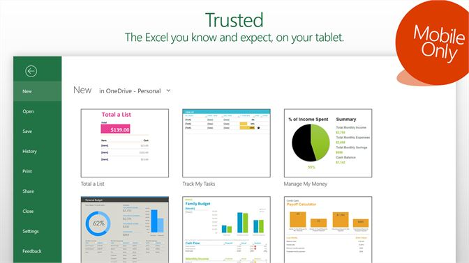 free windows excel app