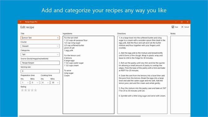 get recipe keeper microsoft store