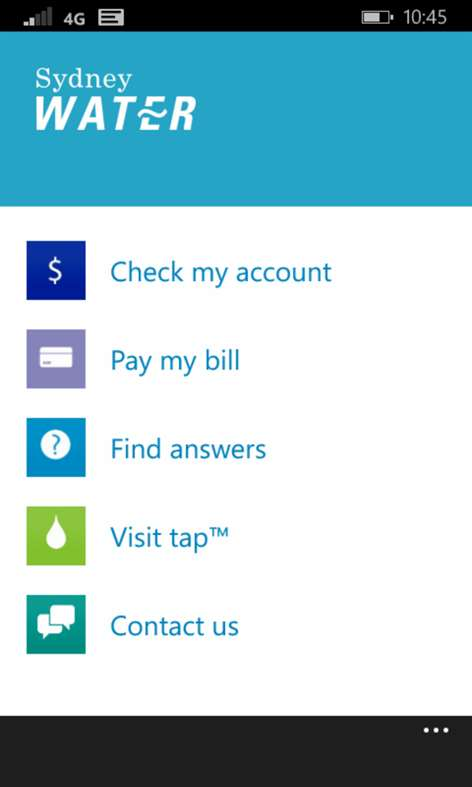 Login to view your Sydney Water ebill, add more properties to your account, change your details.