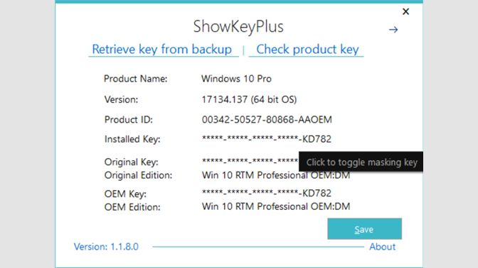 dell windows product key finder
