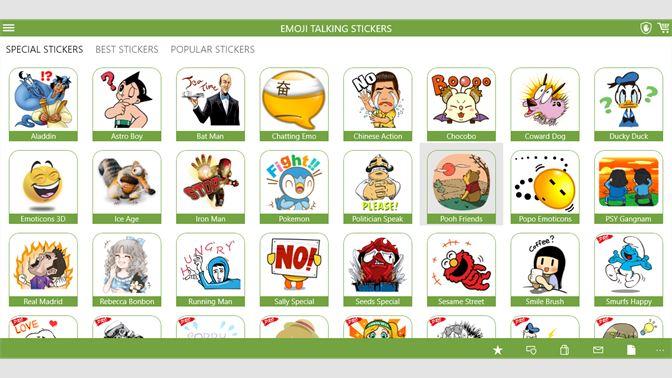 Get Emoji HD Talking Stickers for all Messengers - Microsoft