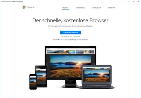 Google Chrome-Installationsprogramm Screenshot