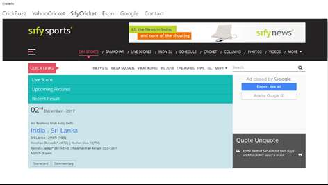 download cricket live score application for mobile