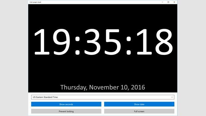 Get Full screen clock - Microsoft Store