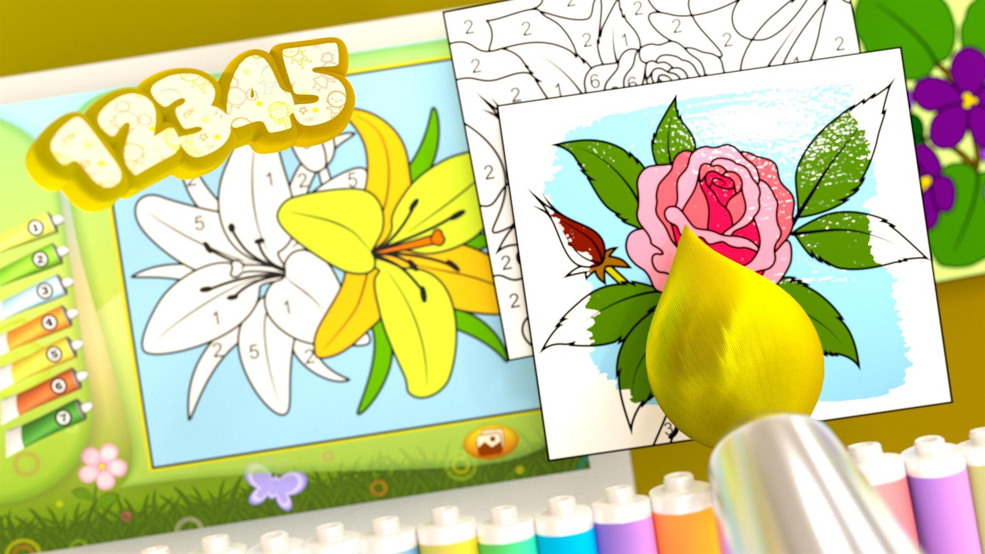 Comprar Colorear por números - Flores - Microsoft Store es-ES