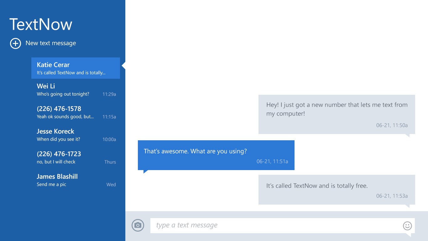 TextNow for Windows 10