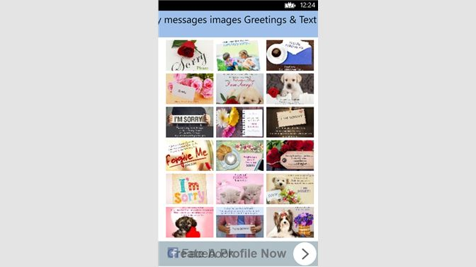 Get sorry messages images greetings text sms microsoft store screenshot 1 m4hsunfo