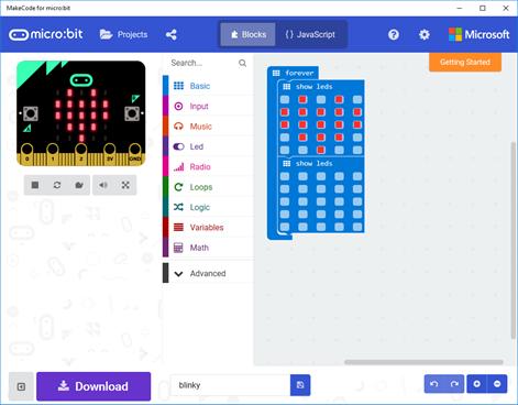 MakeCode for micro:bit Screenshots 1