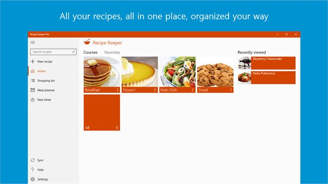 Get recipe keeper microsoft store screenshots forumfinder Image collections