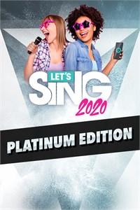 Carátula para el juego Let's Sing 2020 Platinum Edition de Xbox 360