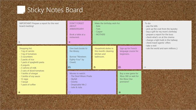 Buy Sticky Notes Board - Microsoft Store
