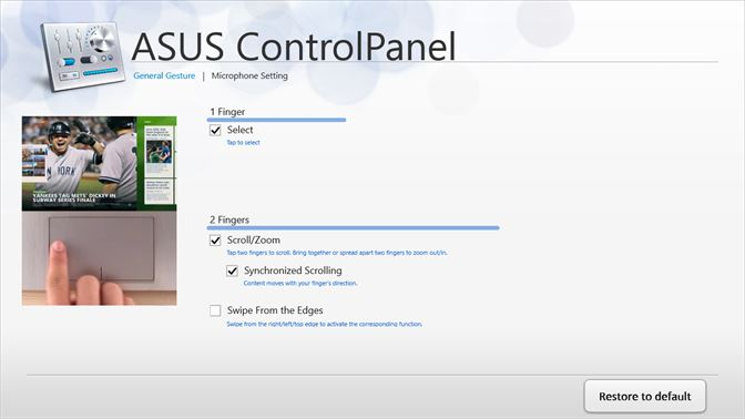 asus t100 touchpad settings