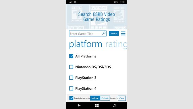 Get Video Game Ratings by Entertainment Software Rating Board