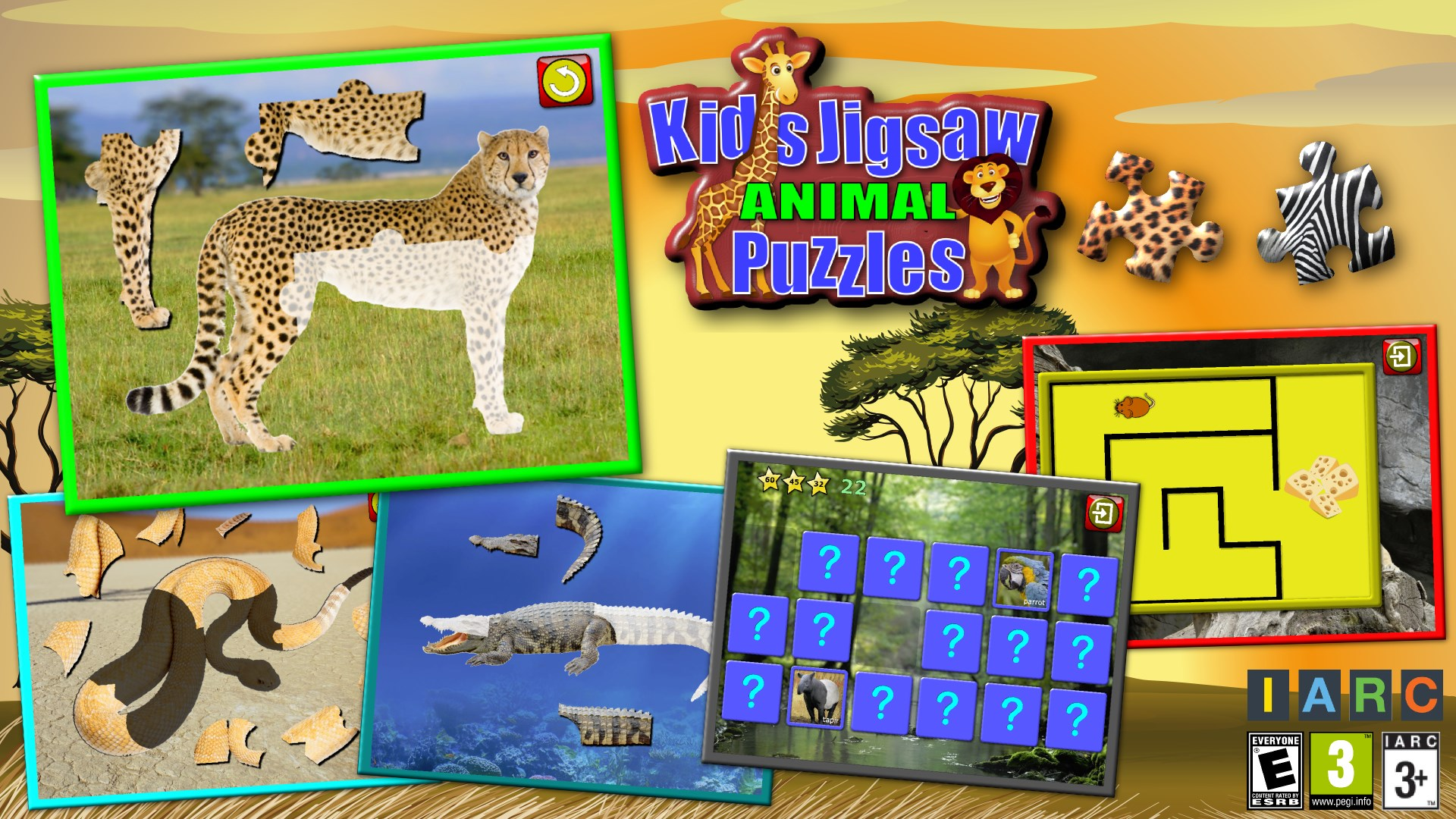 Get Children S Animal Jigsaw Puzzles Teaches Shapes And Matching Microsoft Store En Gb