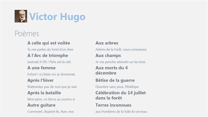 Obtenir Poèmes De Victor Hugo Microsoft Store Fr Ca