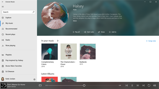Groove Music screenshot 2