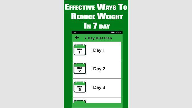 Diet Plan Weight Loss In 7days Beziehen Microsoft Store De Ch