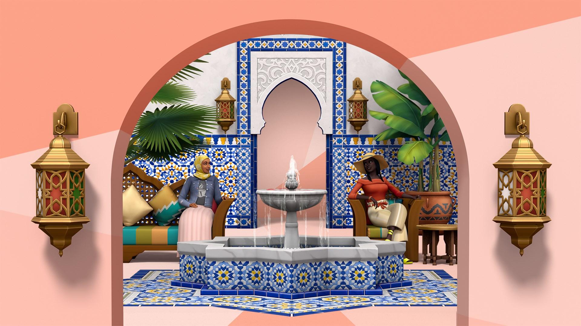 De Sims™ 4 Binnenplaats Oase Kit