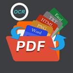 PDF Converter Pro: OCR, PDF to Word, Spreedsheet, HTML, Text, RTF, XPS, Images Logo