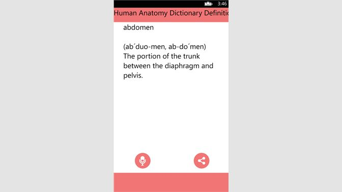 Get Human Anatomy Dictionary Definitions Terms Microsoft Store