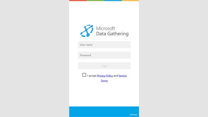 get microsoft data gathering microsoft store