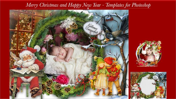 Merry Christmas and Happy New Year Card for Photoshop kaufen ...