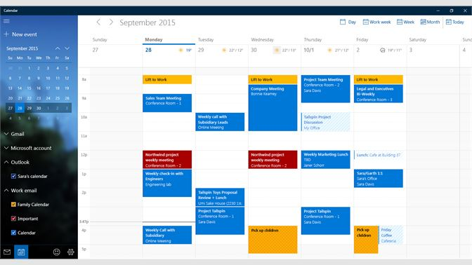 Calendario Windows 10 Su Desktop.Get Mail And Calendar Microsoft Store