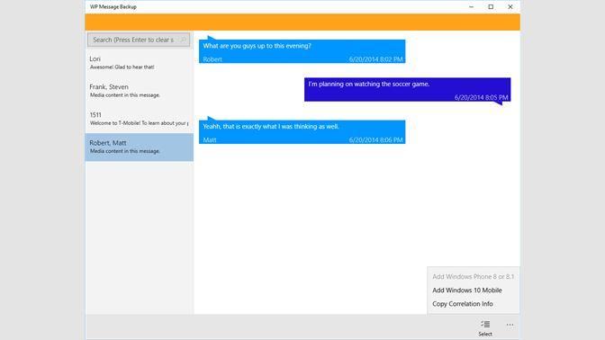 Get WP Message Backup - Microsoft Store