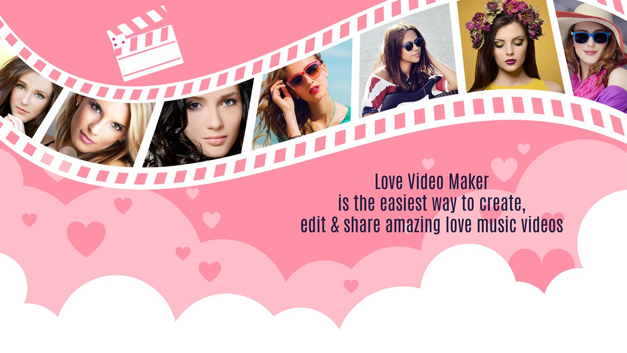 Get Love Videos: Free Video Editor, Photo Movie Maker