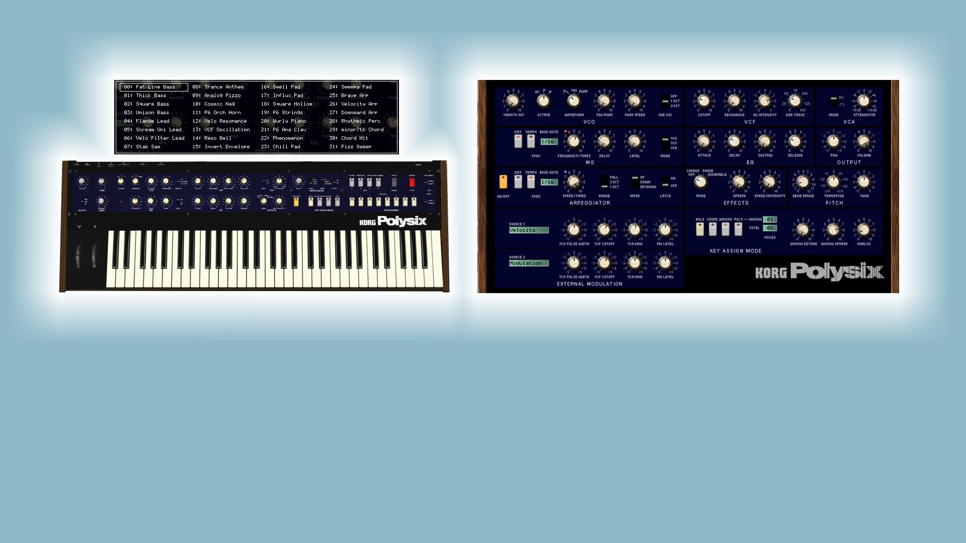 SoundDiviner Plugin for Korg Legacy Polysix