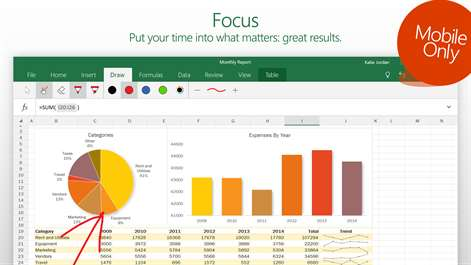 Ediblewildsus  Remarkable Excel Mobile  Windows Apps On Microsoft Store With Interesting Screenshot With Extraordinary Excel Waterfall Charts Also Excel Report Table In Addition Extract Text In Excel And Gantt Chart With Excel As Well As Excel To Date Additionally Calculate Total Hours In Excel From Microsoftcom With Ediblewildsus  Interesting Excel Mobile  Windows Apps On Microsoft Store With Extraordinary Screenshot And Remarkable Excel Waterfall Charts Also Excel Report Table In Addition Extract Text In Excel From Microsoftcom