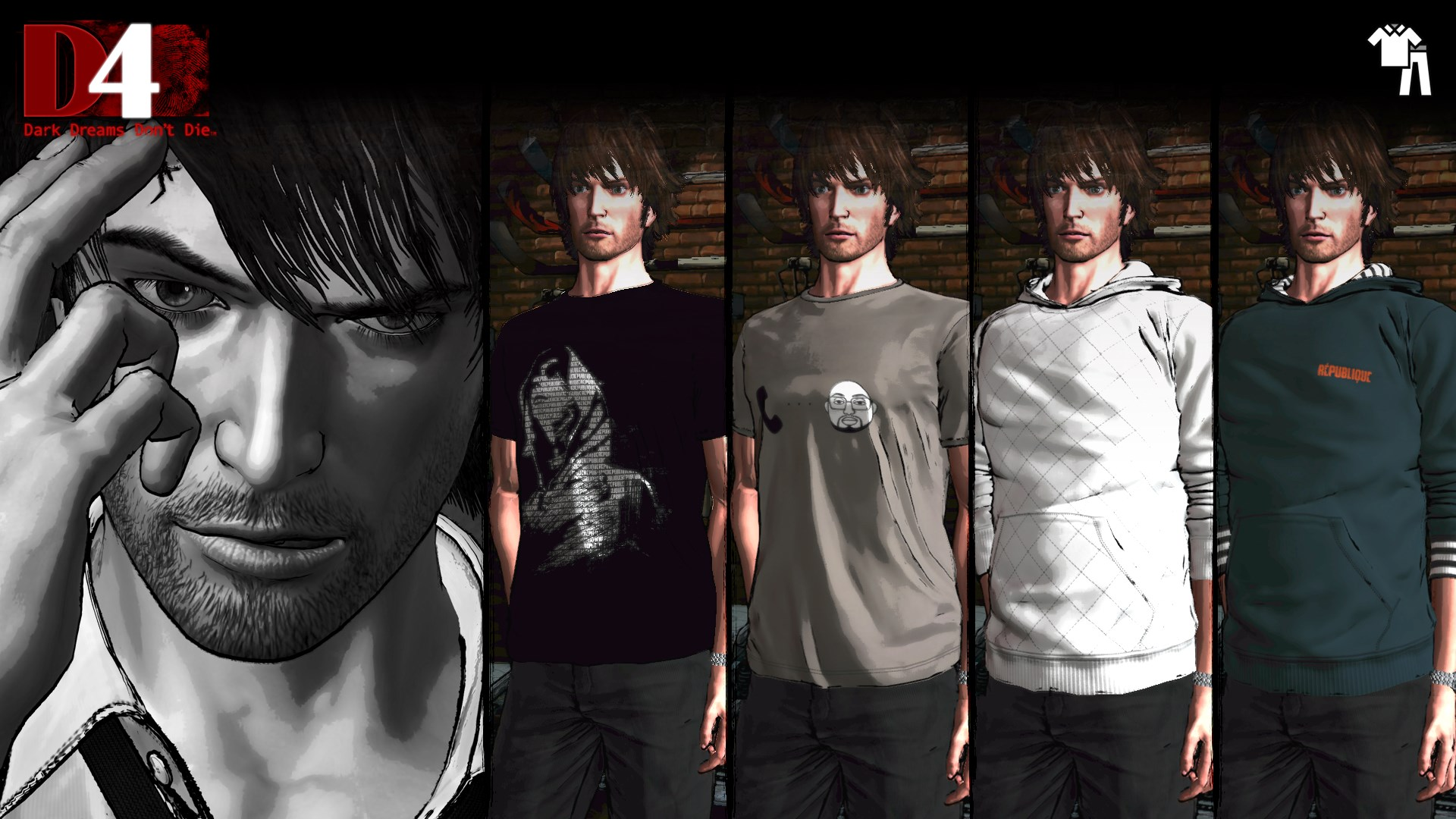 D4: Dark Dreams Don't Die - République Clothing Set