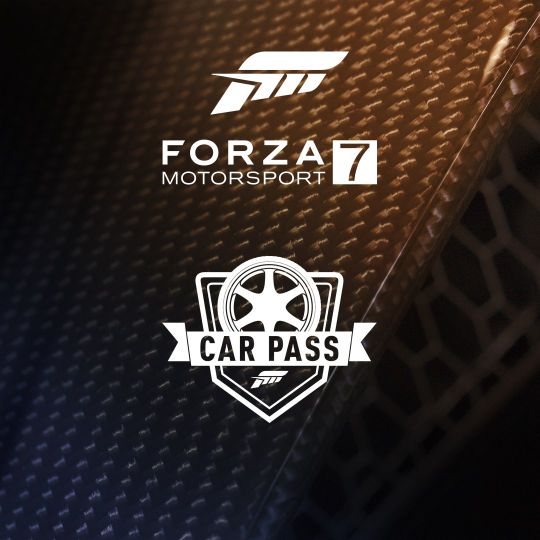 Forza Motorsport 7 Car Pass, Car Pass logo on an abstract textured background