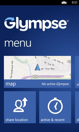 Glympse Screenshot