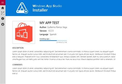 Windows App Studio Installer Screenshots 1