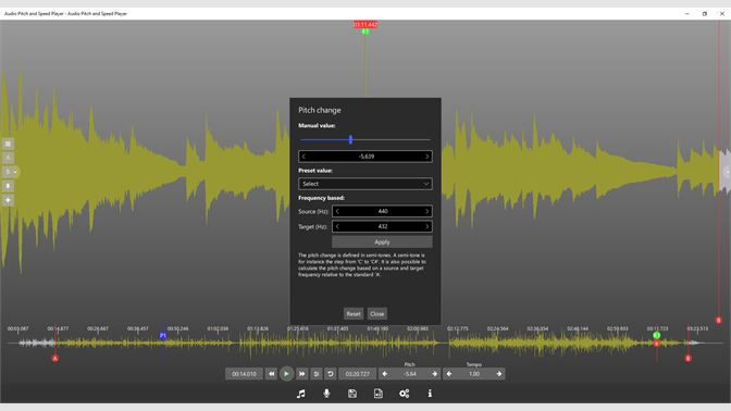 Buy Audio Pitch and Speed Player - Microsoft Store
