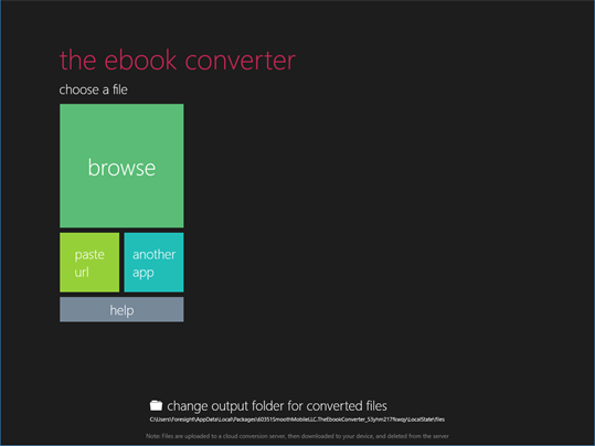 The Ebook Converter screenshot 1